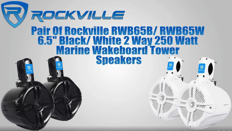 """Black 8/"""" 300 Watt Rollcage Rollbar Tower Speakers for Can-Am MAVERICK X3//X3 Max"""