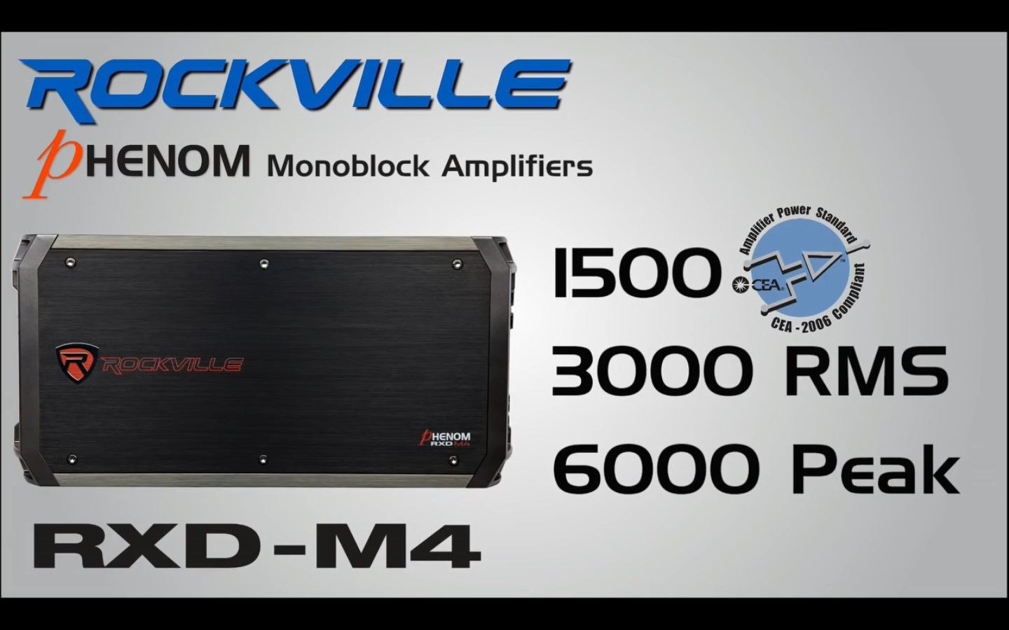 RXD M4 rockville rxd m4 6000 watt 3000w rms mono class d 1 ohm amplifier  at gsmportal.co