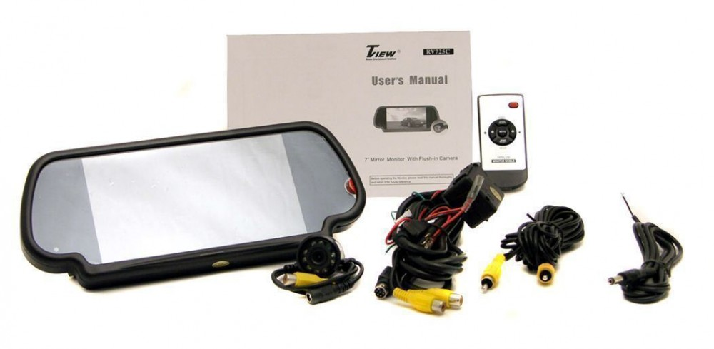 Tview Rv725c Rearview Mirror 7 Quot Car Monitor Night Vision