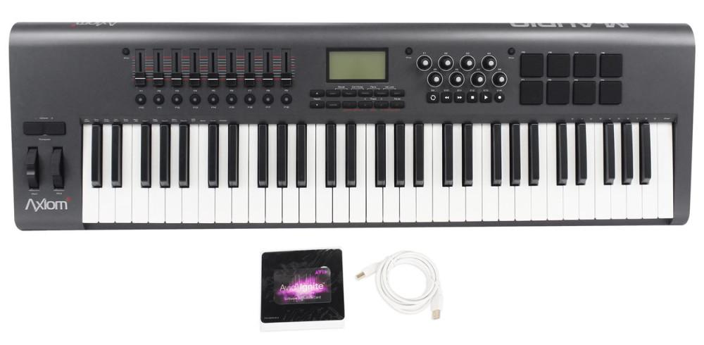 m audio axiom 61 mk2 mkii 61 key midi usb controller keyboard audio savings. Black Bedroom Furniture Sets. Home Design Ideas
