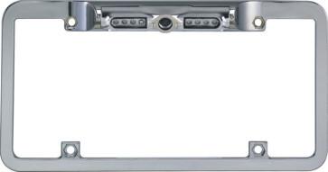 Boyo VTL200CIR Chrome Night Vision License Back-up Plate Camera 140° Wide Angle