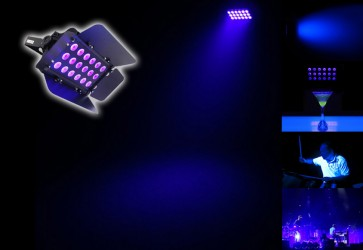 Chauvet DJ SlimBANK UV-18 High Powered LED Blacklight FX Light SLIMBANKUV18