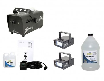 Chauvet H700 Fog Machine + (2) MINI STROBE LED (replaces CH-730) + FJU Juice