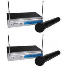(2) Peavey PV-1 U1 HH 911.70MHZ UHF Wireless Microphones (Dual Mic System)