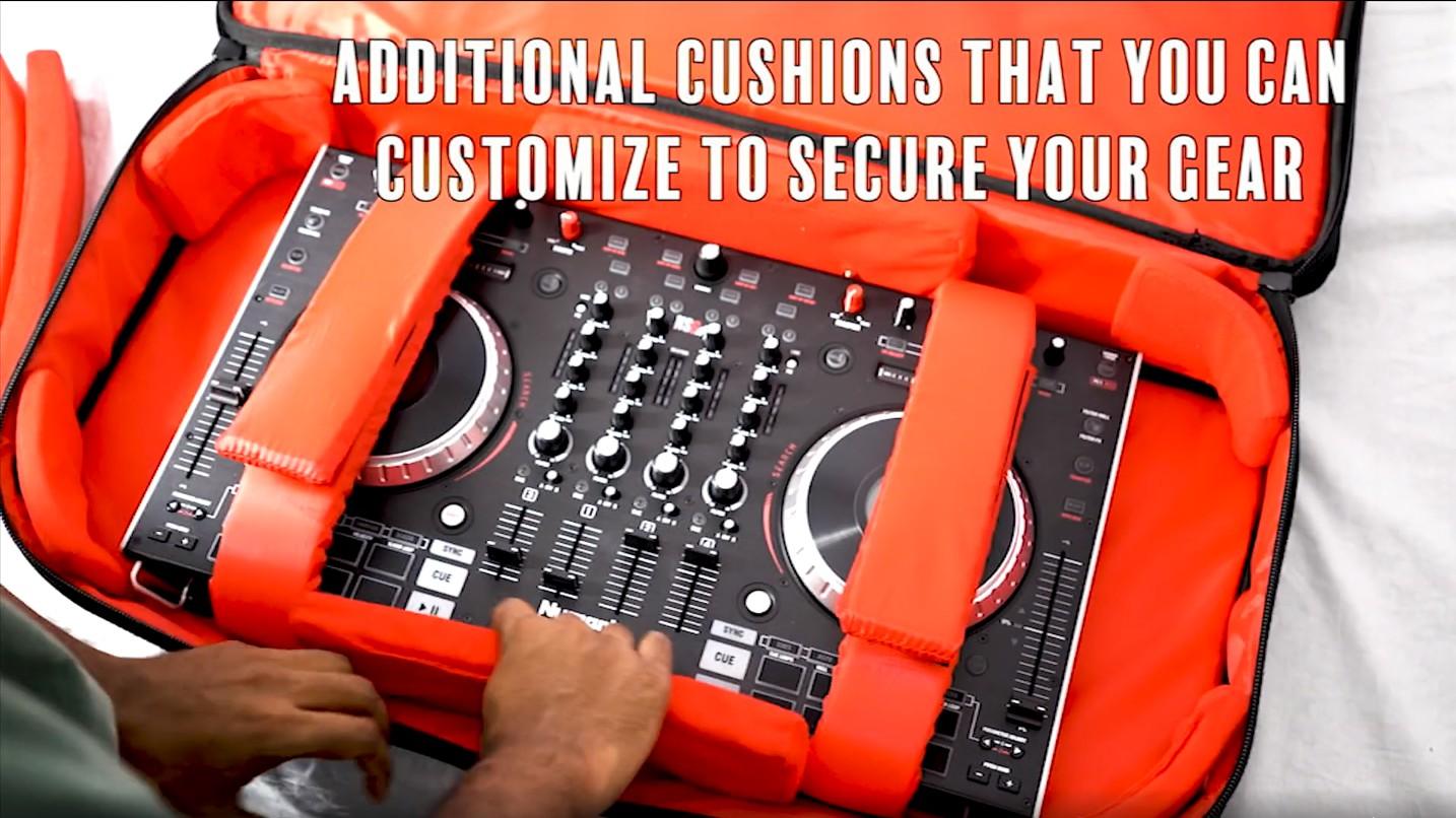 Rockville RDJB20 DJ Controller Travel Bag Carry Case For Gemini CDMP-7000