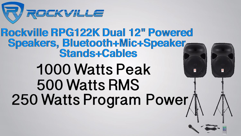 RPG122k rockville rpg122k dual 12\