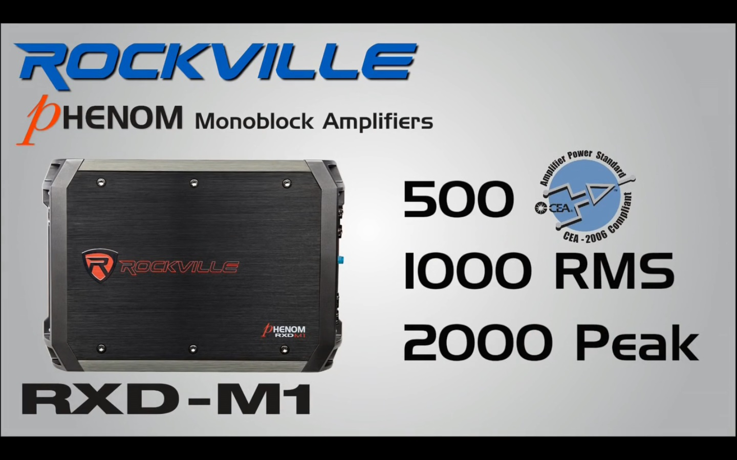 RXD M1 rockville rxd m1 2000 watt 1000w rms mono class d 1 ohm amplifier  at gsmportal.co