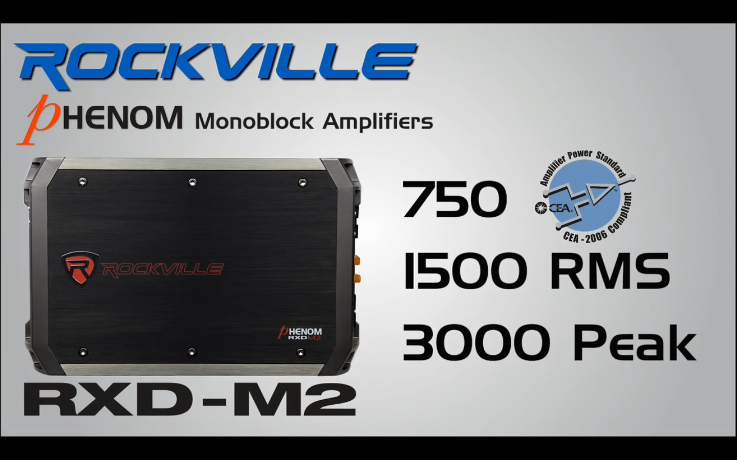 RXD M2 rockville rxd m2 3000 watt 1500w rms mono class d 1 ohm amplifier  at gsmportal.co