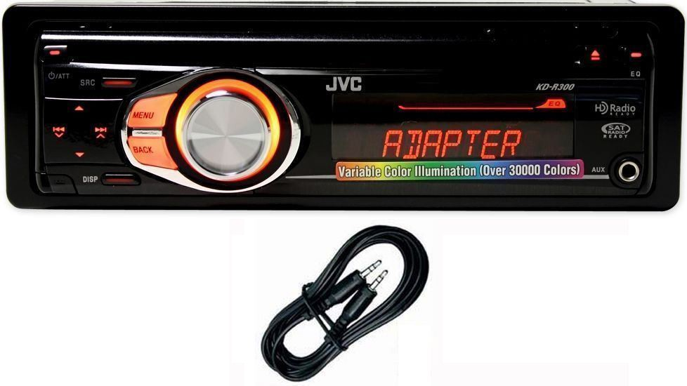 JVC KD-R300 In Dash Car CD/MP3 Player/Radio Stereo Receiver W/ Front AUX  Input   Audio SavingsAudio Savings