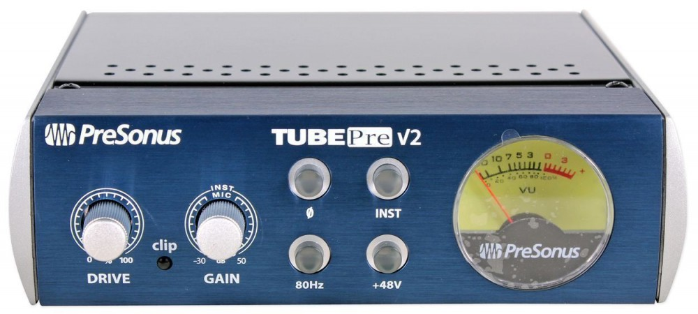 2 Presonus TubePre V2 Vacuum Tube Preamp//DI Direct Box 6 XLR Cables